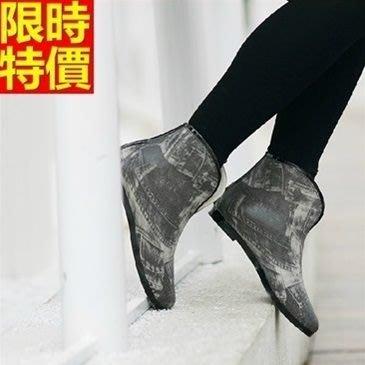 短筒雨靴子 雨具-美式風格加厚保暖女雨鞋子66ak28[獨家進口][米蘭精品]