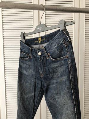 W25  7 for all mankind 藍色牛仔褲