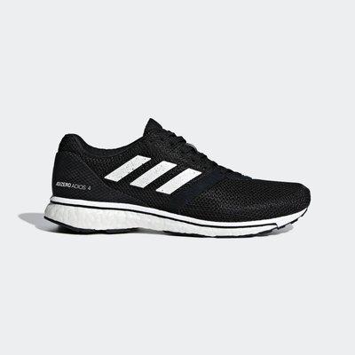 [狗爹的家] ADIDAS ADIZERO ADIOS 4 W 黑 白 BOOST 女慢跑鞋 現貨 免運