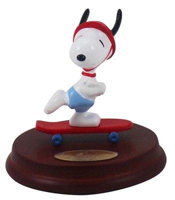 【卡漫迷】 Snoopy 擺飾 滑板 ㊣版 poly材質 史奴比 史努比 限量公仔 可拆式 可移動 650元