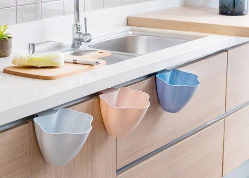 廚房廚櫃門掛式垃圾桶 懸掛式垃圾桶 垃圾桶 流理台桌面垃圾收納盒 雜物盒   廚餘桶