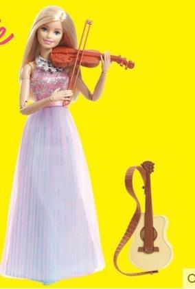 『格倫雅品』芭比娃娃Barbie 芭比之小提琴家女孩生日禮物 芭比娃娃套裝大禮盒