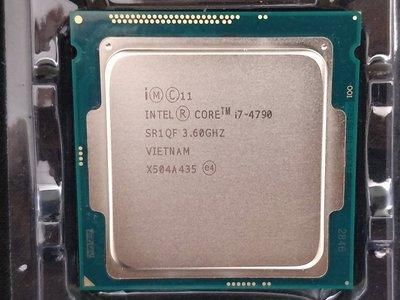 【含稅】Intel Core i7-4790 3.6G 8M 4C8T 1150 84W 正式CPU 一年保