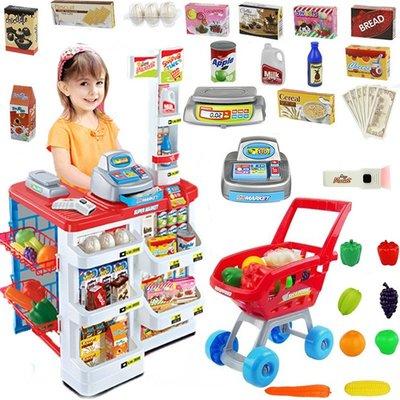 雜貨小鋪 兒童過家家廚房女孩寶寶3-4-5歲6超市玩具購物收銀機做飯煮飯套裝