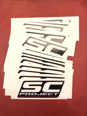 DNS部品 SC PROJECT  原廠排氣管 抗熱貼紙 耐熱貼紙 尺寸 108x39cm