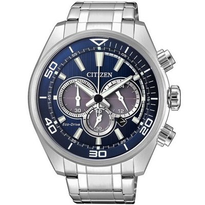CITIZEN 星辰 光動能計時腕錶(CA4330-81L)-藍/45mm 新款