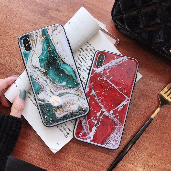 手機殼 網紅滴膠墨綠大理石紋適用iPhoneXS MAX手機殼防摔蘋果XR情侶外殼