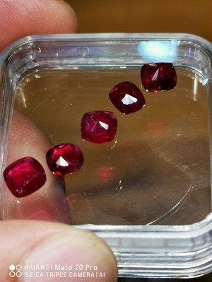 💖玉殿珠寶💖天然無燒鴿血紅紅寶石-3.65克拉