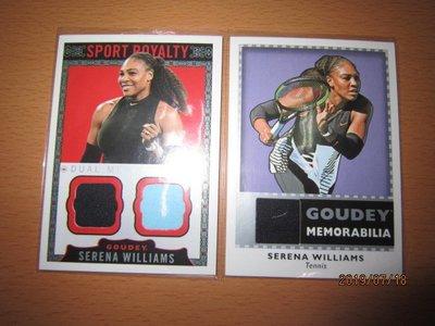 網拍讀賣~Serena Williams~雙球衣卡~球衣卡~GOUDEY~普特卡~共2張~1000元~輕鬆付~~非常少見