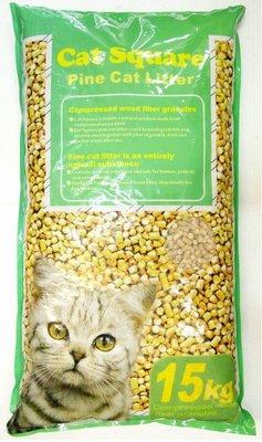 *優比寵物*Cat Square15公斤裝松木砂/松樹砂/木屑砂2包合購價 (鼠.兔.貓.鳥.通用)