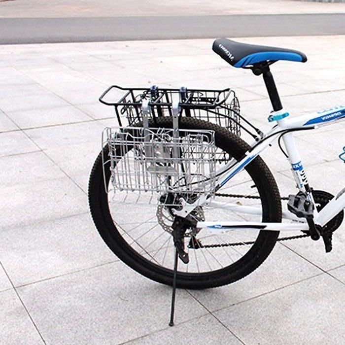 腳踏車置物籃車筐 折疊車菜籃自行車置物籃 前後掛筐可彈簧車籃菜籃自行車配件