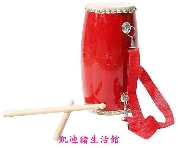 【凱迪豬生活館】新寶樂器優質13公分水牛皮腰鼓 小腰鼓兒童腰鼓 花鼓   促銷送小朋友練習表演KTZ-200943