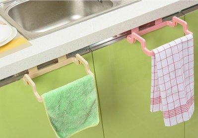 ☜shop go 門背式多功能掛架 廚房 抹布 毛巾 雜物 浴室 可調節 旋轉 簡易安裝 垃圾袋掛架 垃圾【R045】
