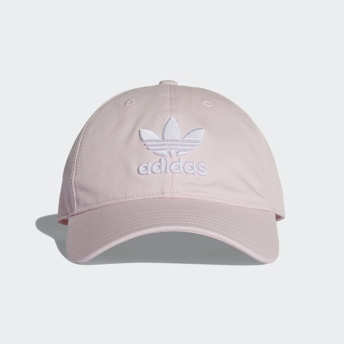 Adidas Originals Trefoil 粉紅 白Logo 老帽 棒球帽 DJ0882 -SPEEDKOBE-