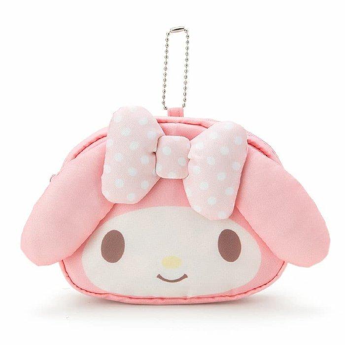 日本  美樂蒂可愛大頭收納購物袋