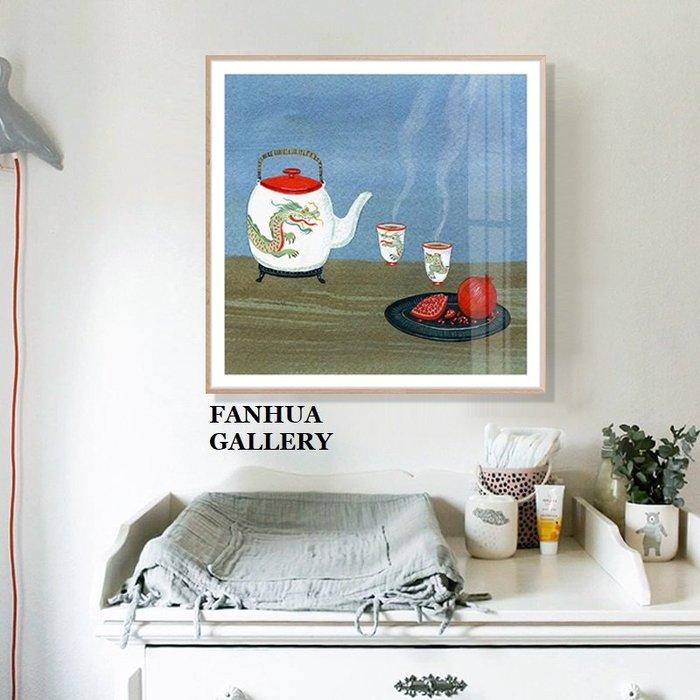 C - R - A - Z - Y - T - O - W - N 美國插畫家小眾藝術裝飾畫客廳臥室掛畫餐廳龍圖掛畫茶壺杯版畫裝飾品壁畫文旅民宿裝飾畫辦公室掛畫