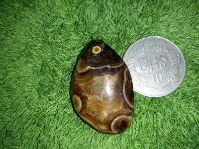 [觀賞]鯉魚躍龍門台灣特產三峽文石  玉髓質原石  清晰石眼  天眼吊飾 首墜