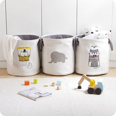 布藝髒衣桶髒衣服收納桶髒衣簍雜物筐整理儲物桶兒童玩具收納桶WY