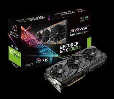 【捷修電腦。士林】華碩 ROG-STRIX-GTX1080TI-O11G-GAMING 顯示卡 $32990