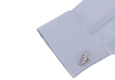 ☆TA精品☆ 男士精品-袖扣  貓藍色水鑽袖扣  190211