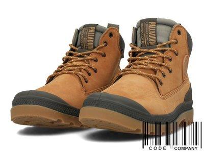 =CodE= PALLADIUM PAMPA SC OUTSIDER WP+ 防水皮革軍靴(土黃)76472-717 男