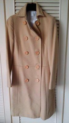 INED 駝色雙排釦大衣