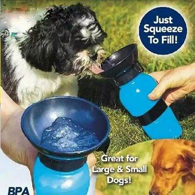 創意小品 寵物水壺 狗狗飲水杯 便攜式喝水瓶水壺戶外寵物餵水器 寵物按壓式隨行杯 寵物喝水器 水杯水壺