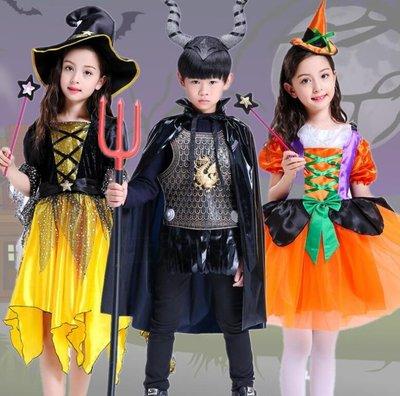 萬聖節 服裝 兒童服裝cosplay黑貓鬥篷巫婆精靈裙南瓜裙魔法裙化妝舞會—莎芭