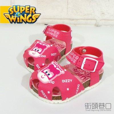 【街頭巷口 Street】 SUPER WINGS 超級飛俠 台灣製造 休閒勃肯鞋 童涼鞋 KRS73804P 粉色