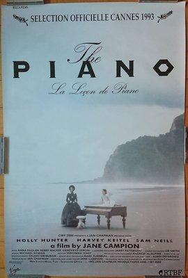 鋼琴師和她的情人 The Piano - 珍康萍 Jane Campion - 美國授權再版電影海報(1993年印製)