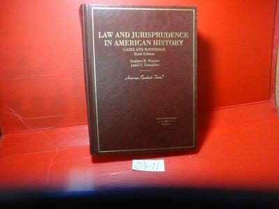 【愛悅二手書坊 03-11】Law and Jurisprudence in American History(劃記)