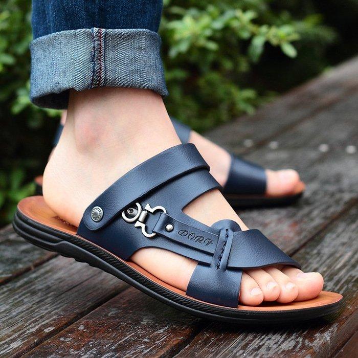 【嚴選】男鞋2018新款夏季男士露趾涼鞋時尚潮流沙灘鞋拖鞋 男涼拖鞋超便宜休閒