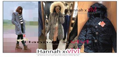 HannahxVIVI 全新 SALE 虧本出清 2017保暖必備SLY n3b超大貉子毛領加厚保暖大衣外套抗寒首選長版