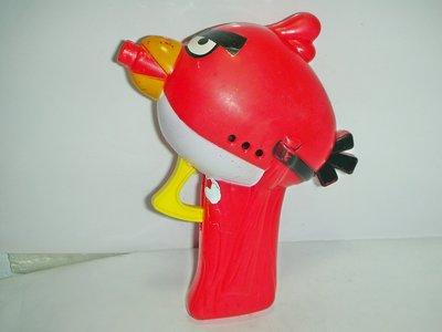 aaL皮商旋.(企業寶寶公仔娃娃)少見紅色ANGRY BIRDS憤怒的小鳥(憤怒鳥)手槍造型玩具!/6房樂箱22/-P