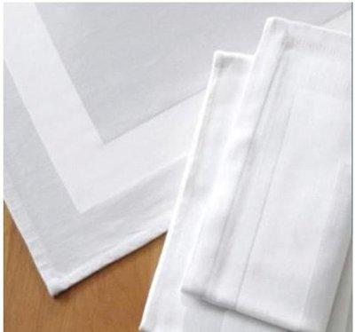 居家家飾設計 餐巾 方框-口布 100%純棉系列 56*56cm 白色 紅色-2款
