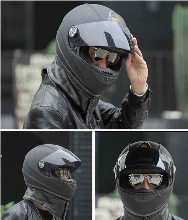機車頭盔男冬季全覆式安全帽