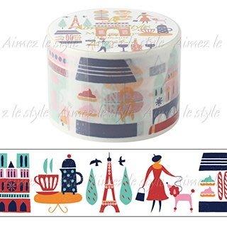 【R的雜貨舖】紙膠帶分裝 Aimez le style パリの小道(プリマテ) 巴黎小道 1單位=50cm