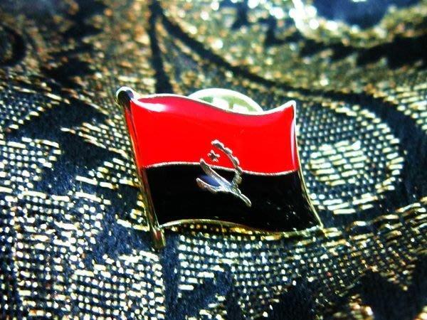 【國旗徽章達人】安哥拉國旗徽章/胸章/勳章/別針/胸針/Angola/超過50國圖案可選