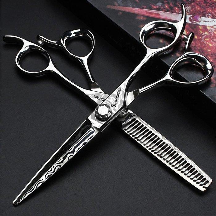發廊專業美發剪刀6寸發型師專用理發剪刀平剪牙剪套裝#剪刀#理髮剪刀#美髮剪刀#理髮店專用