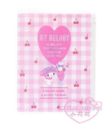 ♥小花花日本精品♥Melody美樂蒂愛心圖案粉白色格紋雙開式文件夾收納夾資料夾 粉色 ~預(3)