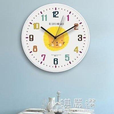哆啦本鋪 北歐動物掛鐘兒童卡通靜音鐘錶現代簡約客廳創意鐘錶家用時鐘壁鐘 D655