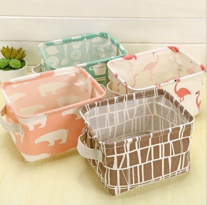 ZAKKA帶提手桌面雜物筐收納盒櫥櫃小衣物布藝收納籃