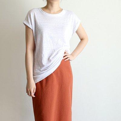 girlmonster 正韓 捲袖上衣TEE (白色 米色 咖啡 深咖啡 粉紅 黑色藍色 ) 【A0519】