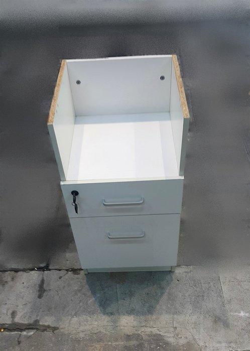 樂居二手家具 A0210HJE 白色二抽置物櫃 抽屜櫃 置物櫃 收納櫃 床頭櫃 臥室家具拍賣 【全新中古傢俱家電】