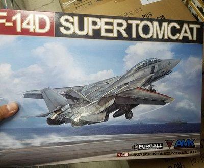 全新.-AMK -88007-1/48-USN- Grumman- F-14D- Tomcat -加費4元-M-250