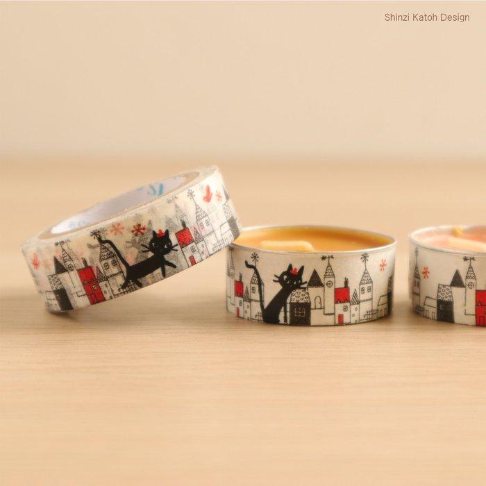 【貓下僕同盟】日本貓雜貨《Shinzi Katoh 加藤真治》可愛貓圖案紙膠帶 相冊工具 手撕 日記手帳素材 D款