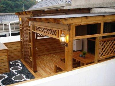 南方松 採光罩 遮雨棚 遮陽棚 雨棚 屋頂 頂樓規劃 【園匠工坊】免費估價