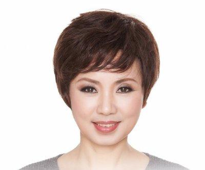 水媚兒假髮7M27HBHH♥新款女士真髮 透氣蓬鬆 優雅時尚 短髮♥ 預購 團購批發