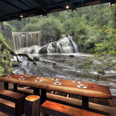 客製化壁貼 店面保障 編號F-564 樹林瀑布 壁紙 牆貼 牆紙 壁畫 星瑞 shing ruei