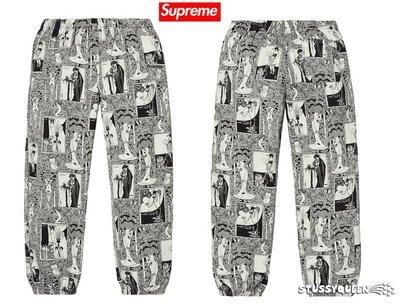 【超搶手】全新正品 2018 最新 Supreme Salome Pant 莎樂美 漫畫滿版印花  縮口褲 黑色S